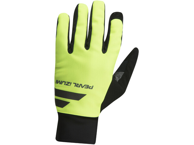 PEARL iZUMi Escape Softshell Gloves Herren black/screaming yellow
